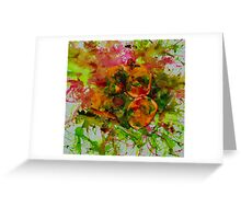 Orange, kiwi and ink Greeting Card