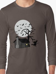 Spooky Witch's House Long Sleeve T-Shirt