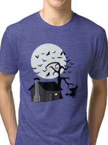 Spooky Witch's House Tri-blend T-Shirt