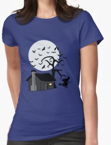 Spooky Witch's House Womens Fitted T-Shirt