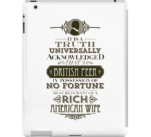 The Penniless Earl iPad Case/Skin