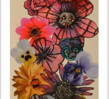 Flowers, silk and photographs Sticker