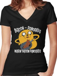 Bacon Pancakes 2 Women's Fitted V-Neck T-Shirt