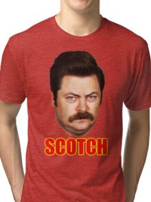ron swanson scotch Tri-blend T-Shirt