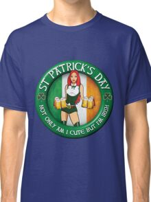 St Patrick's Day Irish Donut Gal Classic T-Shirt