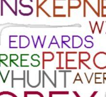 Grey's Names Sticker