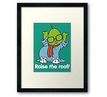 Muppet Babies - Bunsen - Raise The Roof - White Font Framed Print