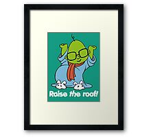 Muppet Babies - Bunsen - Raise The Roof - White Font Framed Print