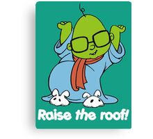 Muppet Babies - Bunsen - Raise The Roof - White Font Canvas Print