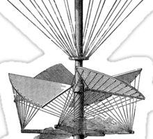 Vintage Steampunk Flying Machine Sticker