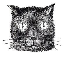 Vintage Clockwork Cat Photographic Print