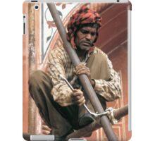 Building scaffolding in Delhi, India iPad Case/Skin