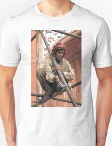 Building scaffolding in Delhi, India Unisex T-Shirt