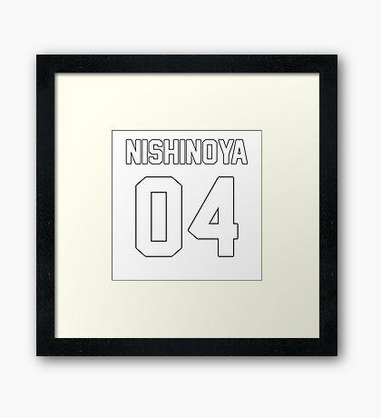 Yu Nishinoya Jersey 04 Framed Print