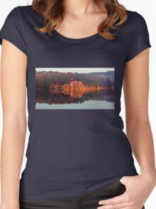 Early Morning Serenity George Lake Women's Fitted Scoop T-Shirt