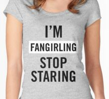 I'm fangirling. Women's Fitted Scoop T-Shirt