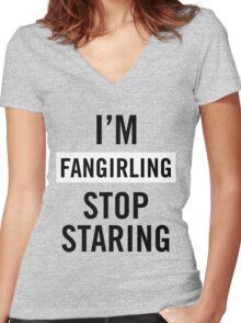 I'm fangirling. Women's Fitted V-Neck T-Shirt