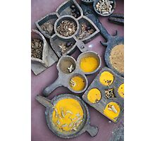 An assortment of spices, Kerala, India Photographic Print