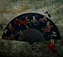 Japanese Folding Fish Fan  by Kim-maree Clark