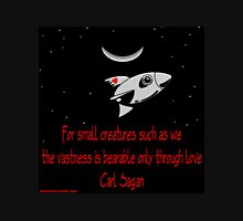 Spaceship of Love Womens Fitted T-Shirt
