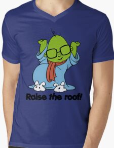 Muppet Babies - Bunsen - Raise The Roof - Black Font Mens V-Neck T-Shirt