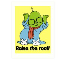 Muppet Babies - Bunsen - Raise The Roof - Black Font Art Print