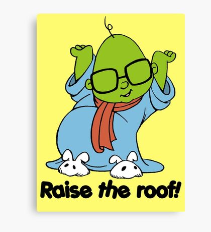 Muppet Babies - Bunsen - Raise The Roof - Black Font Canvas Print