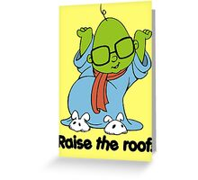 Muppet Babies - Bunsen - Raise The Roof - Black Font Greeting Card
