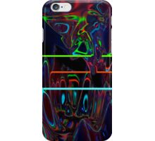 Abstract Neon Mountains iPhone Case/Skin