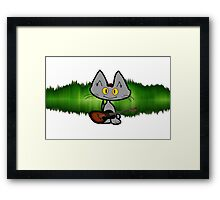 Rock and Roll Cat Framed Print