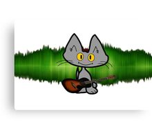 Rock and Roll Cat Canvas Print