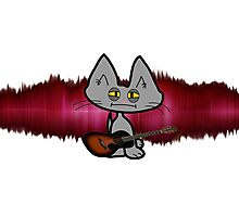 Rock and Roll Cat Photographic Print