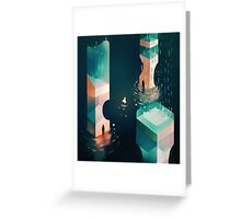 tower above, stars below. Greeting Card