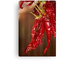 Red hot Spanish chili peppers Canvas Print