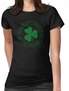 St. Patrick's Day 2016 round, green, distressed Womens Fitted T-Shirt