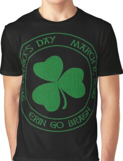 St. Patrick's Day 2016 round, green, distressed Graphic T-Shirt