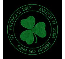 St. Patrick's Day 2016 round, green, distressed Photographic Print