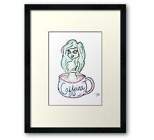 Caffeina - Goddess of Caffeine Framed Print
