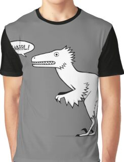 Cartoon Velociraptor Graphic T-Shirt