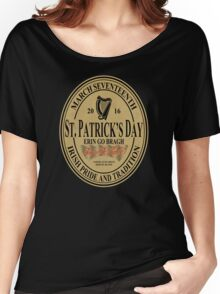St. Patrick's Day - oval label Women's Relaxed Fit T-Shirt