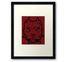 Pitbull Pit Bull Dobermann Rodvailer Framed Print