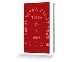 Ultralight Beam - Red Greeting Card