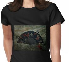 Japanese Folding Fish Fan  Womens Fitted T-Shirt