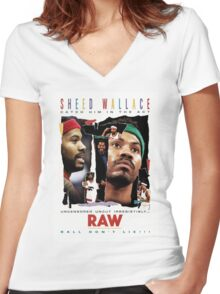 Rasheed Wallace - RAW Women's Fitted V-Neck T-Shirt