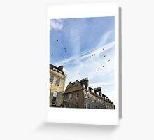Looking up from Kingston Parade, Bath Greeting Card