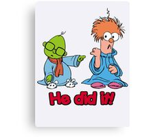 Muppet Babies - Bunsen & Beeker - He Did It! Canvas Print