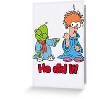Muppet Babies - Bunsen & Beeker - He Did It! Greeting Card