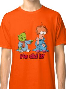 Muppet Babies - Bunsen & Beeker - He Did It! Classic T-Shirt