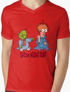 Muppet Babies - Bunsen & Beeker - He Did It! Mens V-Neck T-Shirt