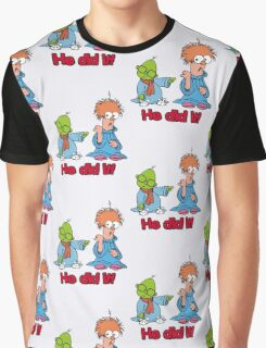 Muppet Babies - Bunsen & Beeker - He Did It! Graphic T-Shirt
